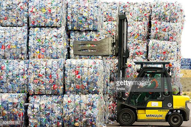 recycling of plastic bottles by APPE French subsidiary company of Seda Barcelona the largest plastic bottle recycling plant in Europe Storage of...