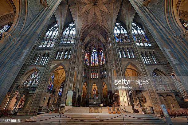 Saint-Etienne Cathedral interior.