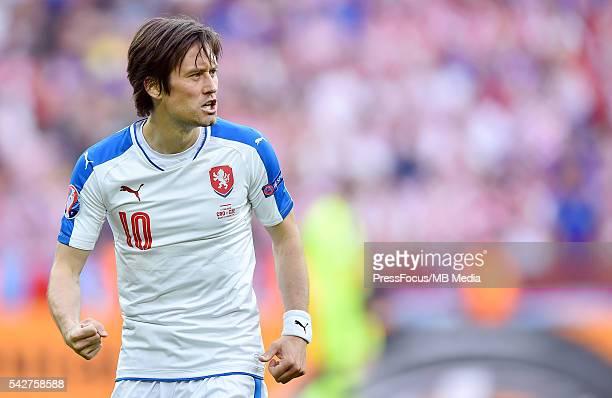 Saint-Etienne Football UEFA Euro 2016 group D game between Czech Republic and Croatia bramka gol radosc Tomas Rosicky Credit: Lukasz Laskowski /...