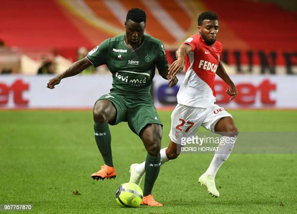 c7e3eb6032ef SaintEtienne s French forward PaulGeorges Ntep vies with Monaco s French  midfielder Thomas Lemar during the French L1