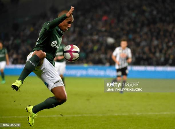 SaintEtienne's Tunisian midfielder Wahbi Khazri controls the ball during the French L1 football match between SaintEtienne and Angers on November 4...