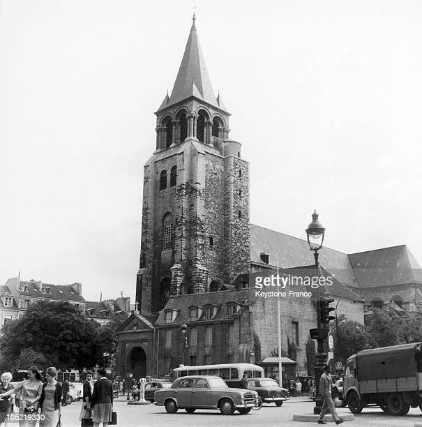 Saint-Germain-Des-Pres Abbey In Paris In 1950