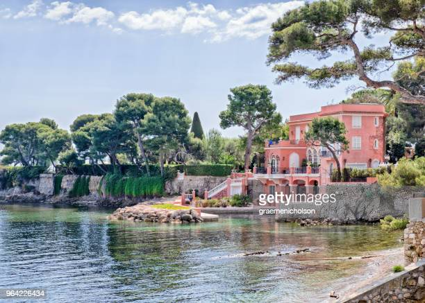 saint-jean-cap-ferrat - saint jean cap ferrat stock pictures, royalty-free photos & images