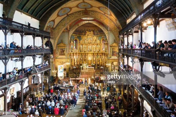 SaintJeandeLuz Church of St John the Baptist wellknown for its golden wooden altarpiece dating back to the XVIIth century church in which Louis XIV...