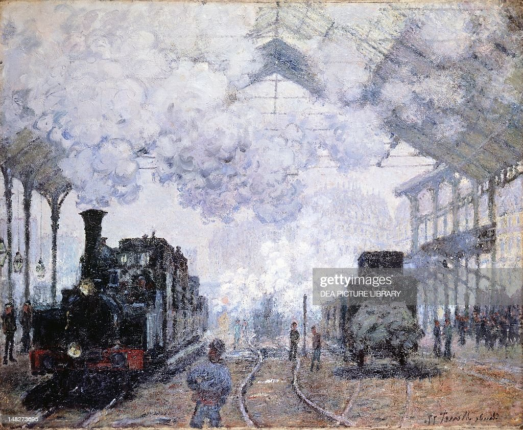 Saint-Lazare Station in Paris, 1876, by Claude Monet (1840-1926). (Photo by DeAgostini/Getty Images); Cambridge (Ma), Harvard University Museums, Fogg Art Museum.