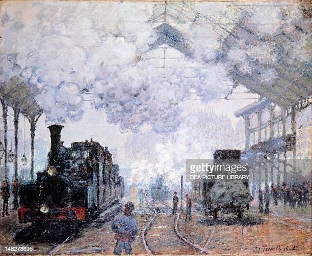 SaintLazare Station in Paris by Claude Monet Cambridge Harvard University Museums Fogg Art Museum