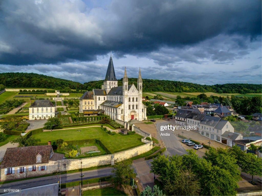 Saint-Georges de Boscherville Abbey. : News Photo