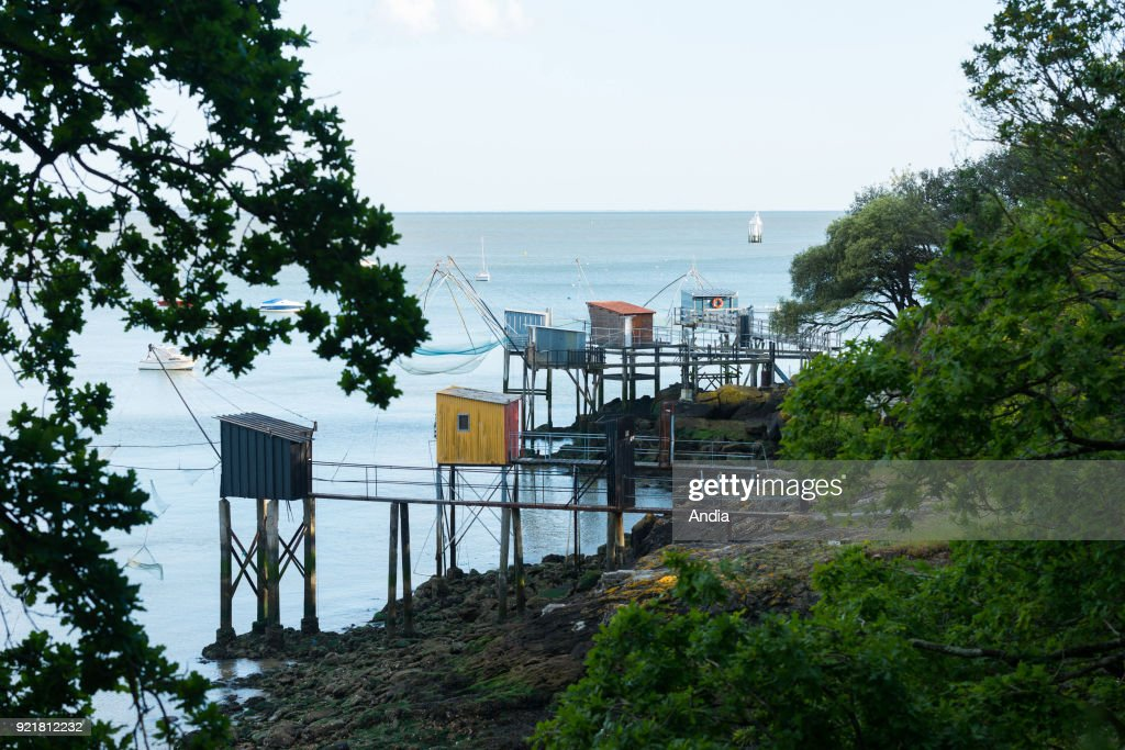Fishing grounds and fishermen's huts with square dipping-nets. : News Photo