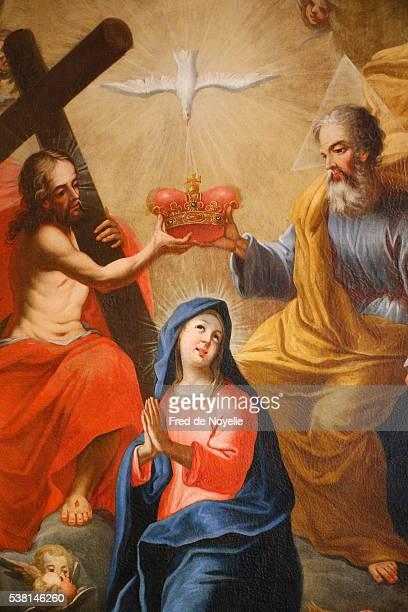 Saint-Nicolas de Véroce Museum. The crowning of the VIrgin Mary. 18th century.