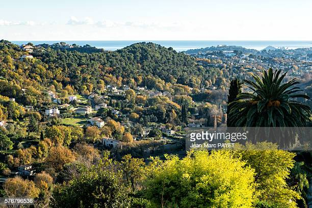 saint-paul de vence's valley - jean marc payet stock pictures, royalty-free photos & images