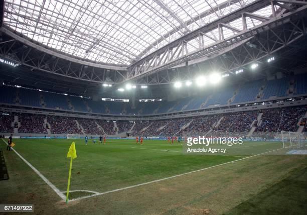 SaintPetersburg Stadium is seen during Russian Football PremierLeague match between Zenit StPetersburg and Ural Ekaterinburg in SaintPetersburg...