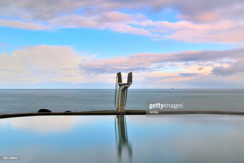Saint-Quay-Portrieux, diving board. : News Photo