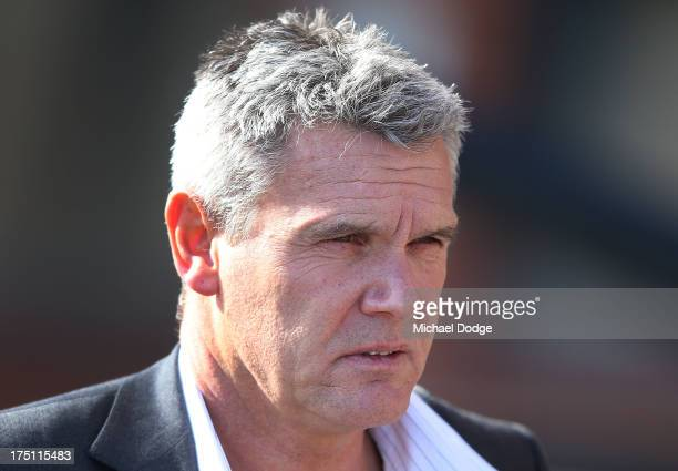 Saints CEO Michael Nettlefold leaves a St Kilda Saints AFL training session at Moorabbin Oval on August 1 2013 in Melbourne Australia