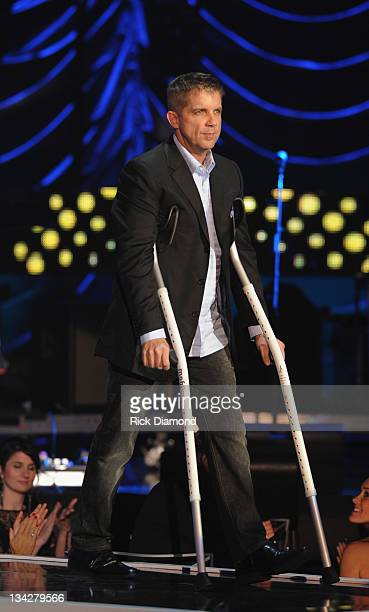 O Saints Coach Sean Payton at the 2011 CMT Artists of the year celebration at the Bridgestone Arena on November 29 2011 in Nashville Tennessee