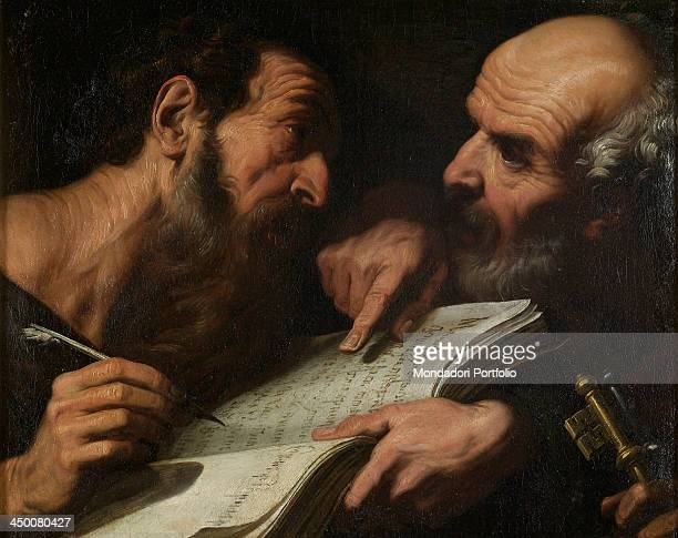 Saints Peter and Paul by Daniele Crespi 17th Century oil on canvas 44 x 55 cm