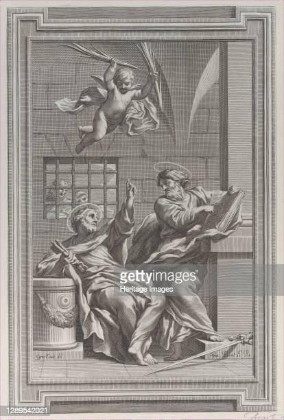 Saints Peter and Paul in prison, 1660-1721. Artist Etienne Picart.