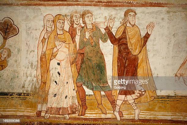 SaintSavin abbey painting Abraham and Lot split apart