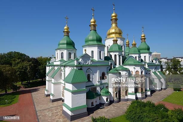 saint-sophia cathedral in kiev, ukraine - kiew stock-fotos und bilder