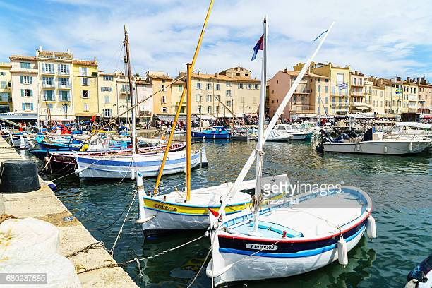 saint-tropez, cote d'azur, france - st tropez stock pictures, royalty-free photos & images