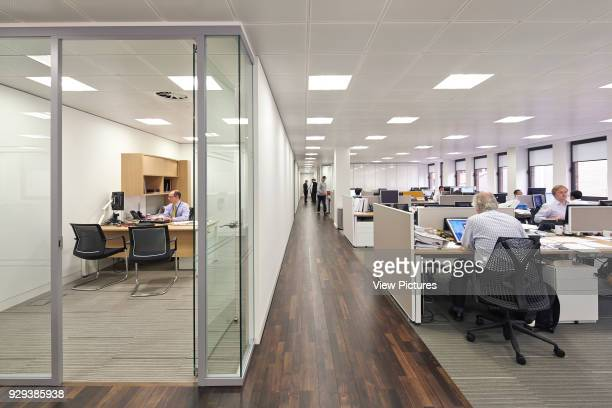 Saipem Headquarters KingstonuponThames KingstonuponThames United Kingdom Architect John Roberston Architects 2013 Open plan office with glass...