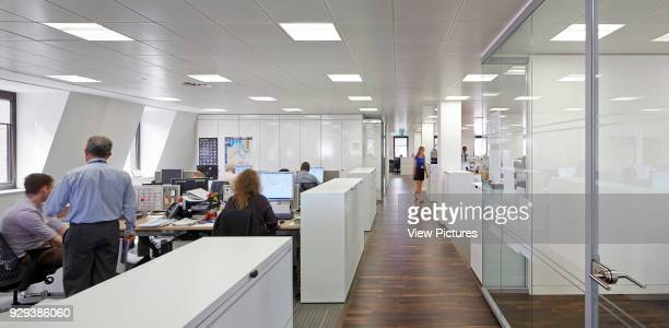 Saipem Headquarters KingstonuponThames KingstonuponThames United Kingdom Architect John Roberston Architects 2013 Panorama of open plan office and...
