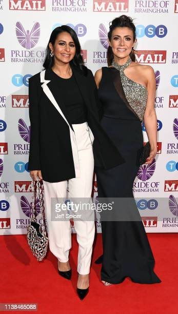 Sair Kahn and Kym Marsh attend The Pride of Birmingham Awards in partnership with TSB at University of Birmingham on March 26 2019 in Birmingham...