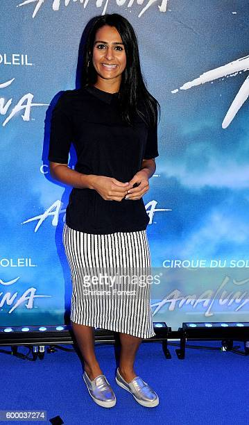 Sair Khan arrives at the press night for Cirque Du Soleil's 'Amaluna' at The Big Top Intu Trafford Centre on September 7 2016 in Manchester England