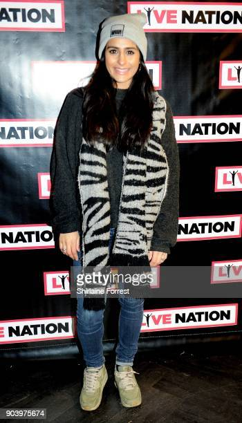 Sair Khan attends Chris Rock's celebrity gala on the opening night of his UK tour at Manchester Arena on January 11 2018 in Manchester England