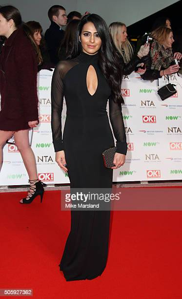Sair Khan attends the 21st National Television Awards at The O2 Arena on January 20 2016 in London England