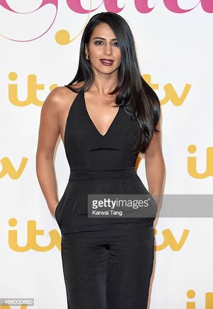 Sair Khan attends the ITV Gala at London Palladium on November 19 2015 in London England