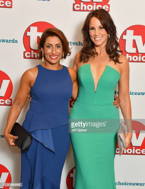 Saira Khan and Andrea McLean attend the TV Choice Awards at The Dorchester on September 10 2018 in London England
