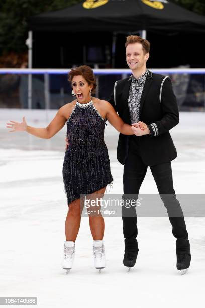 Saira Khan and Mark Hanretty during a photocall for the new series of Dancing On Ice at the Natural History Museum Ice Rink on December 18 2018 in...