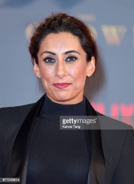 Saira Khan attends the World Premiere of Netflix's The Crown Season 2 at Odeon Leicester Square on November 21 2017 in London England