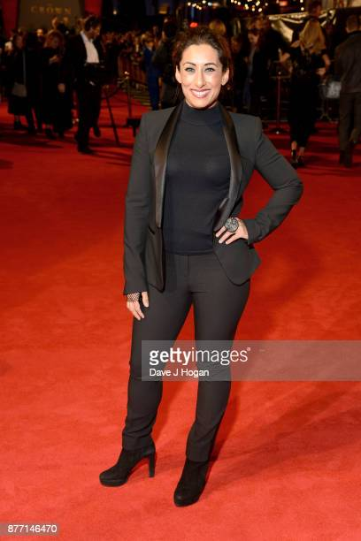 Saira Khan attends the World Premiere of season 2 of Netflix 'The Crown' at Odeon Leicester Square on November 21 2017 in London England