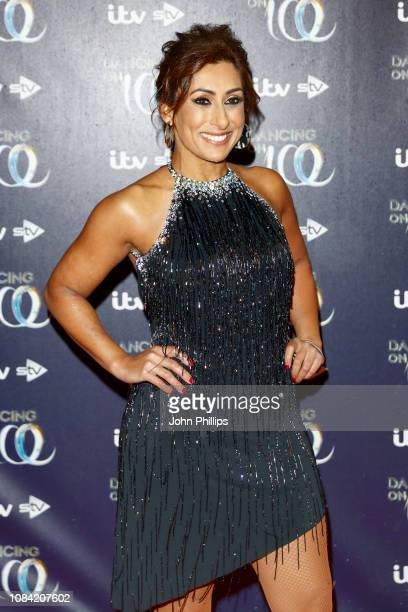 Saira Khan during a photocall for the new series of Dancing On Ice at the Natural History Museum Ice Rink on December 18 2018 in London England