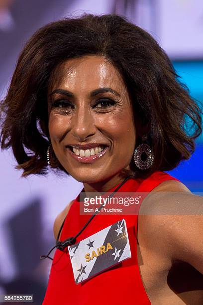 Saira Khan enters the Big Brother House as Celebrity Big Brother launches at Elstree Studios on July 28 2016 in Borehamwood England