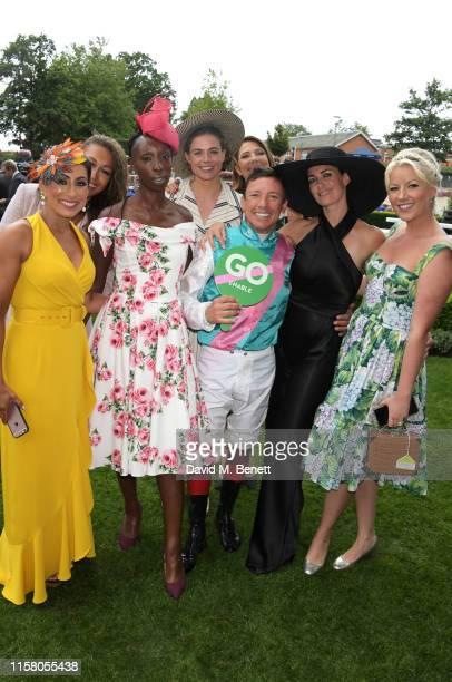 Saira Khan Rebecca Ferguson Eunice Olumide Rosie Tapner Frankie Dettori Suzanne Danielle Suzanne Danielle and Natalie Rushdie attend the King George...