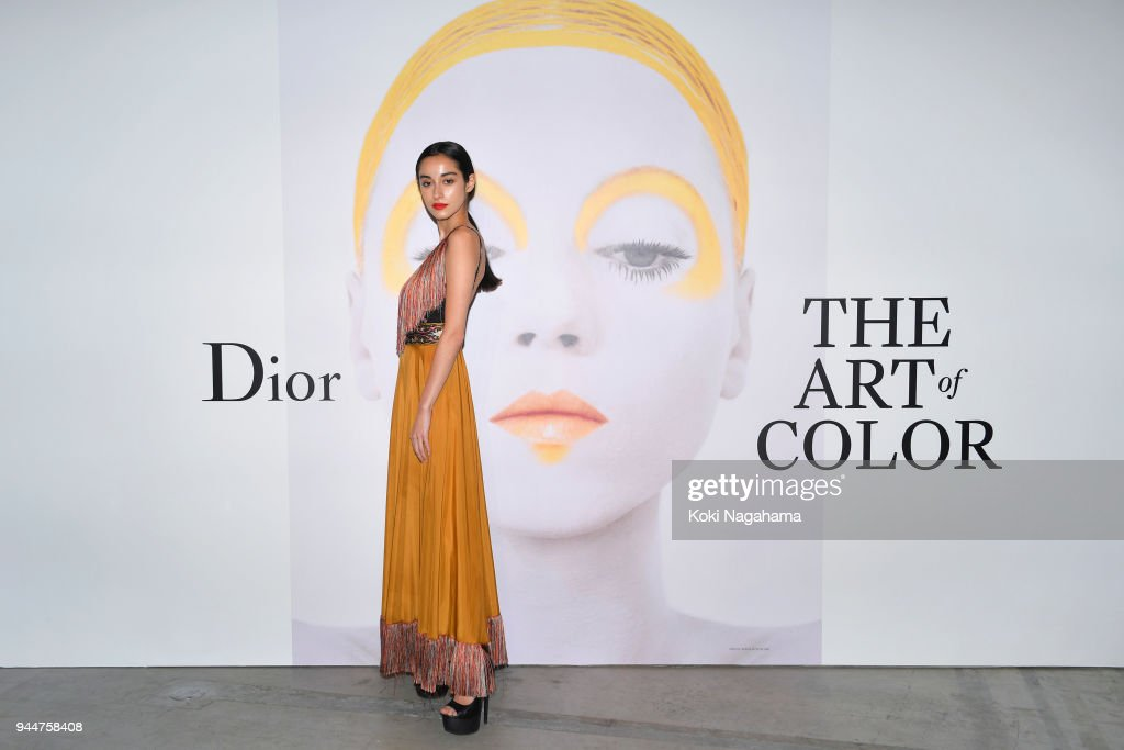 Saira Kunikida attends Dior's The Art of Color Press Preview on April 11, 2018 in Tokyo, Japan.