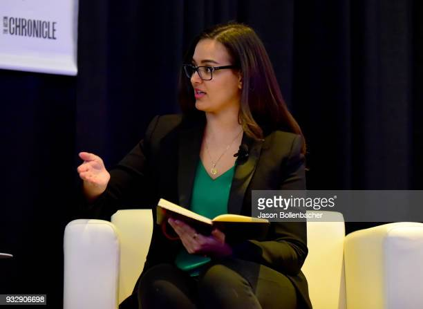 Saira Mueller speaks onstage at Hoops and Gaming Why the NBA Started an Esports League during SXSW at Austin Convention Center on March 16 2018 in...