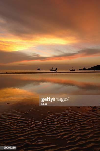 Sairee beach at sunset