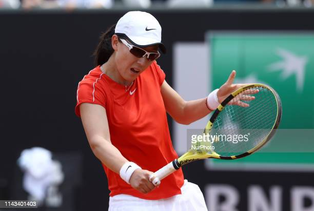 Saisai Zheng during the WTA Internazionali d'Italia BNL first round match at Foro Italico in Rome Italy on May 13 2019