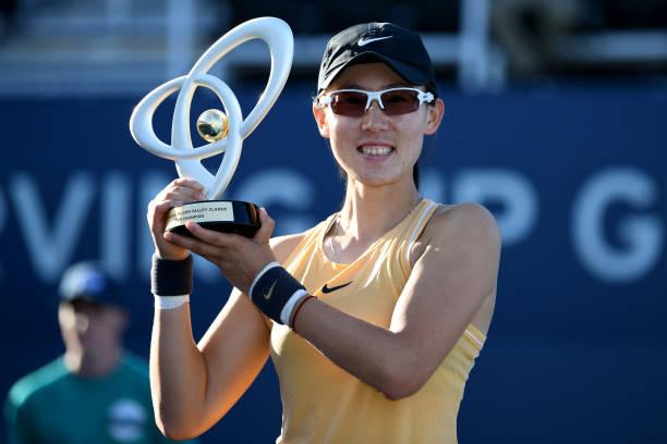WTA SAN JOSE 2019 - Page 3 Saisai-zheng-of-china-celebrates-with-the-winners-trophy-after-aryna-picture-id1166117233?k=6&m=1166117233&s=612x612&w=0&h=pRfZwR4hdabcMAfHVOKaP4WJxj43qGEx7zfLNX1UXtA=