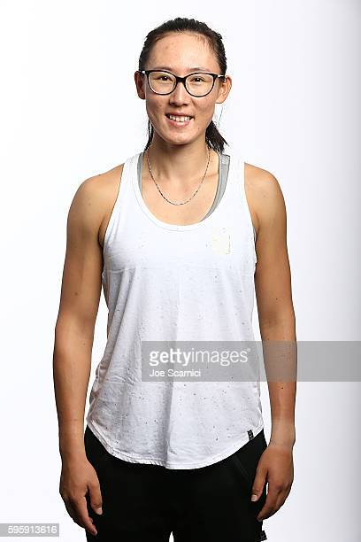 Saisai Zheng of China poses for a WTA Portrait at Arthur Ashe Stadium on August 26 2016 in New York City