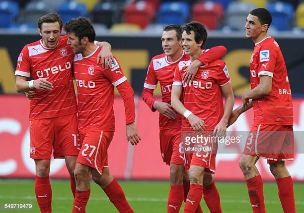 Saison 2012/2013 Fussball Saison 20122013 1 Bundesliga 20 Spieltag Fortuna Düsseldorf VfB Stuttgart 31 vli feiern Adam Bodzek Stefan Reisinger Robert...