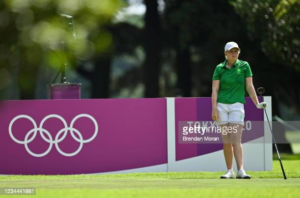 Saitama , Japan - 4 August 2021; Stephanie Meadow of Ireland reacts to her drive on the 14th tee box during round one of the women's individual...