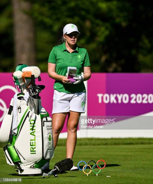 Saitama , Japan - 4 August 2021; Stephenie Meadow of Ireland on the 15th tee box during round one of the women's individual stroke play at the...