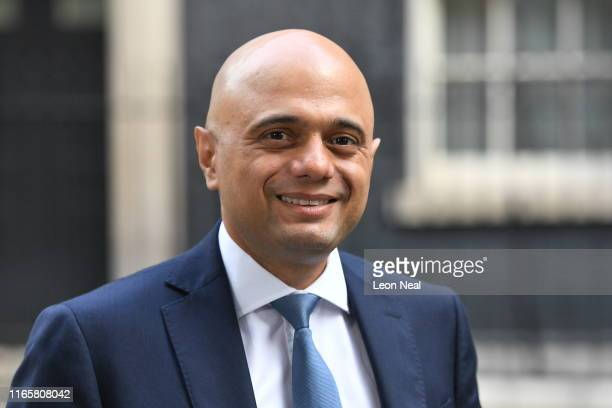 Sajid Javid Chancellor of the Exchequer leaves no 11 Downing Street on September 3 2019 in London England Yesterday evening Prime Minister Boris...