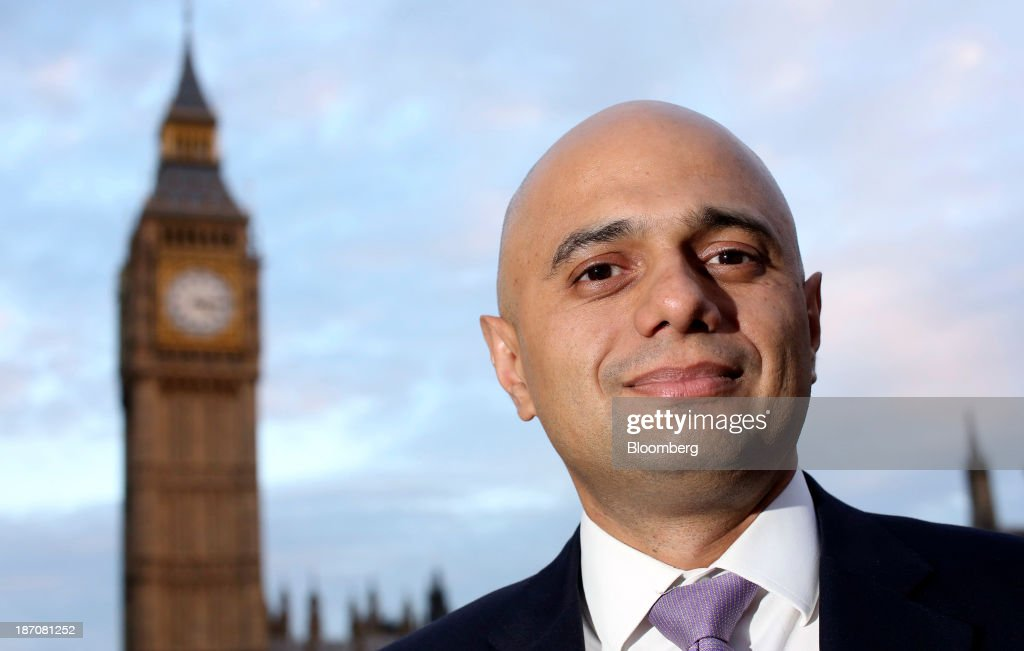 Financial Secretary To The U.K. Treasury Sajid Javid Interview : News Photo