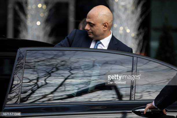 Sajid Javid MP leaves the Park Plaza Hotel Westminster on December 10 2018 in London England The Government are believed to have delayed the...