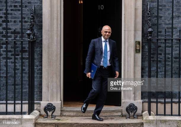 Sajid Javid MP Secretary of State for the Home Department leaves after a cabinet meeting at 10 Downing Street on June 11 2019 in London England Since...
